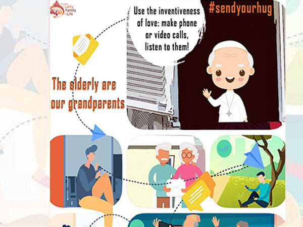 #sendyourhug campaign to support the elderly